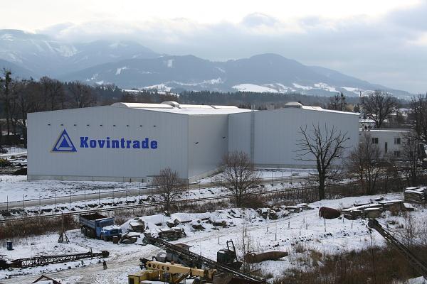 Skladová hala nástrojové oceli KOVINTRADE Frýdlant nad Ostravicí